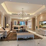 简欧风格客厅整体效果图
