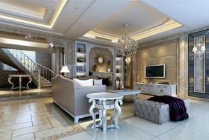 欧式风格别墅精致典雅客厅装修效果图