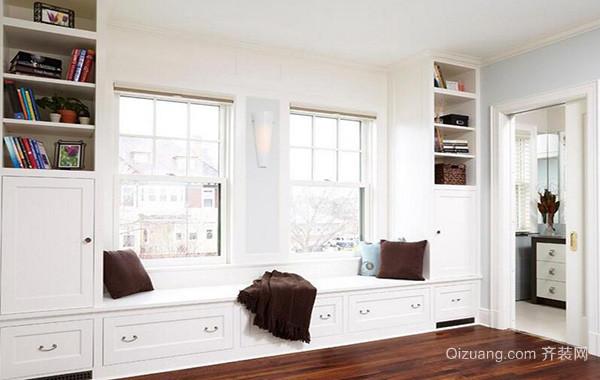 120平米现代简约室内飘窗装修设计效果图