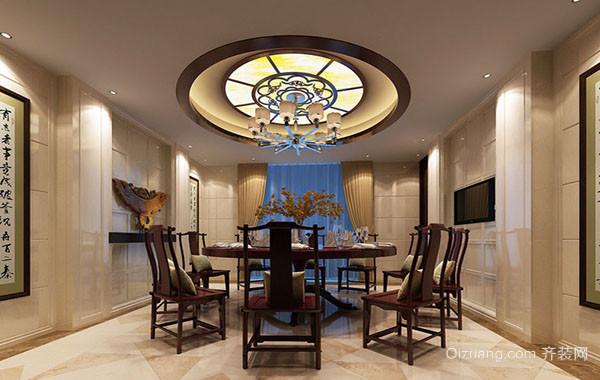中式风格精致典雅餐厅装修效果图大全