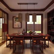 中式稳重大气餐厅设计