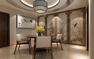 2016年全新款中式风格格调雅致餐厅装修效果图