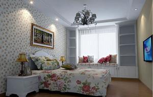 现代田园风格自然朴素卧室装修效果图