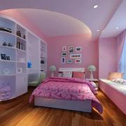 可爱女生儿童房飘窗设计