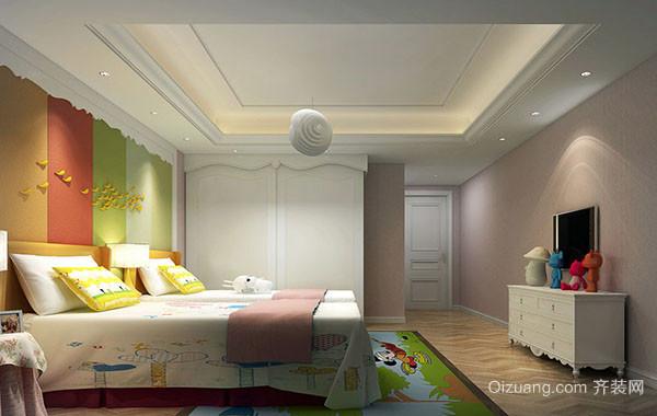 100平米三居室现代简约时尚儿童房装修效果图