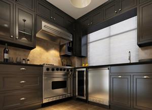美式装修风格样板房厨房吊顶装修效果图