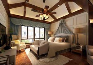 美式装修风格样板房卧室背景墙装修效果图