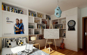 2016欧式都市大户型儿童房室内设计装修效果图