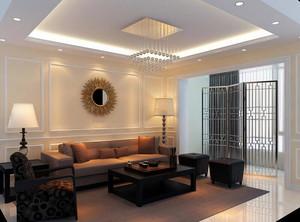 2016精致的大户型客厅室内设计装修效果图