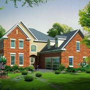 2016精致的现代农村别墅外观设计效果图