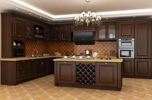 2016欧式大户型厨房室内橱柜设计装修效果图