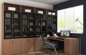 2016精致大户型书房室内书柜设计装修效果图