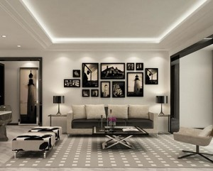 别墅型后现代风格客厅室内装修效果图