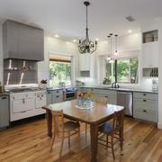 90平米现代简约开放式厨房装修效果图实例