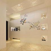 现代简约风格融合中式绘画玄关装修效果图