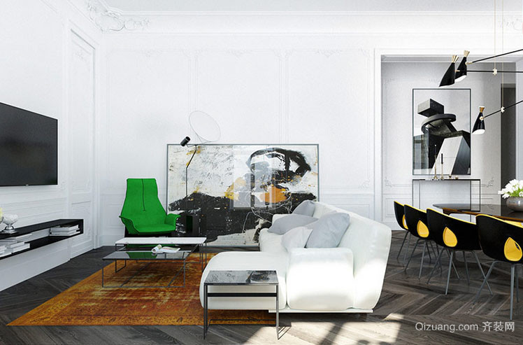 后现代风格简约时尚卧室装修效果图