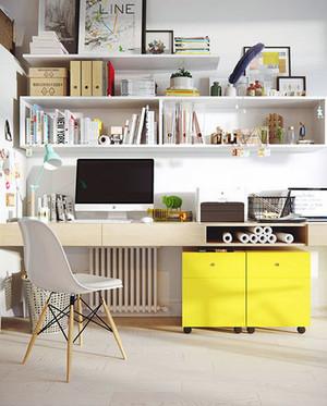 现代简约时尚创意书房装修效果图