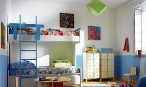 蓝色主打色调儿童房装修效果图