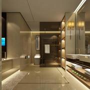 2016欧式小户型洗手间室内设计装修效果图