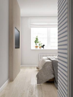 80平米现代简约时尚经典卧室餐厅设计效果图