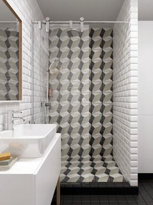 后现代风格简约时尚卫生间隔断装修效果图