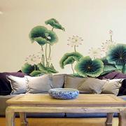 客厅手绘照片墙