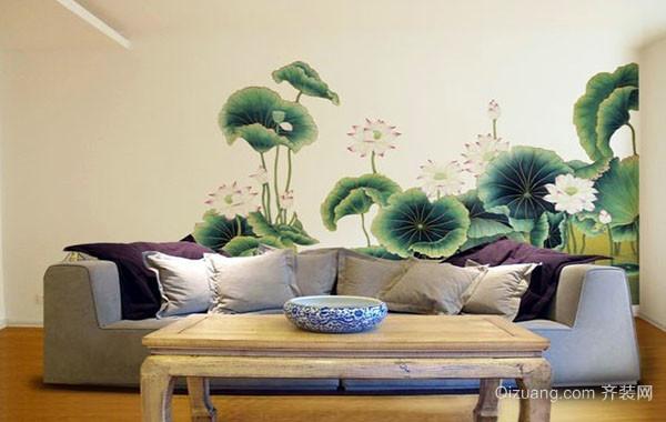 时尚简约创意手绘照片墙装修效果图赏析