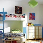 10平米现代简约时尚儿童房双层床装修效果图
