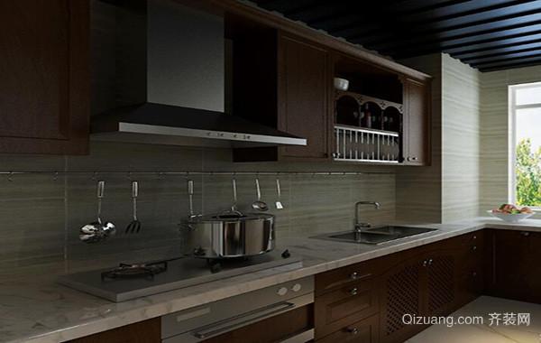 欧式风格别墅型精致厨房吊顶装修效果图