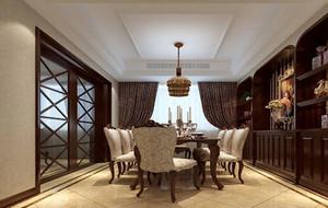 100平米别墅欧式风格餐厅吊顶装修效果图