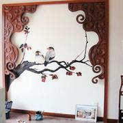 中式风格照片墙效果图