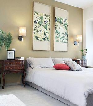 中式花鸟画典雅精致照片墙装修效果图