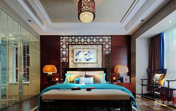 现代中式风格典雅时尚卧室装修效果图