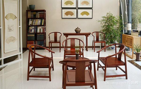 120平米大户型现代中式风格餐厅装修效果图