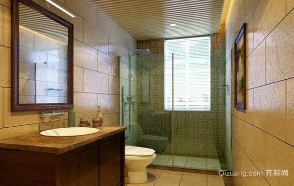中式风格古典典雅卫生间装修效果图