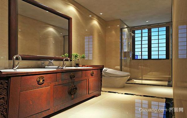 现代中式古典风格卫生间装修效果图