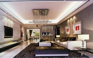 欧式风格大户型客厅背景墙装修效果图实例欣赏