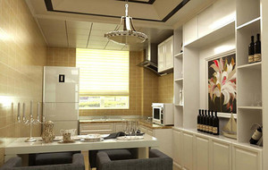 别墅型欧式风格室内酒柜装修设计效果图