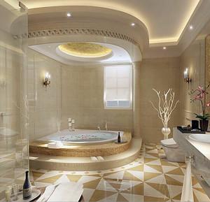 欧式大户型浴室室内吊顶设计装修效果图