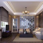 别墅型欧式客厅室内设计装修效果图