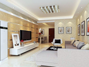 小户型精致现代简约客厅装修效果图实例