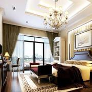 高贵精美的别墅型欧式卧室装修设计效果图