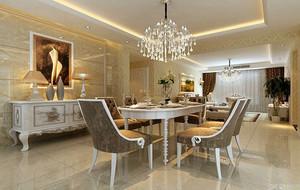 古典欧式风格典雅时尚餐厅装修效果图