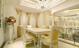 欧式别墅精致典雅餐厅装修效果图