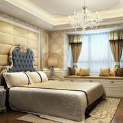 欧式精致典雅卧室整体效果图