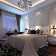 欧式简约时尚卧室效果图