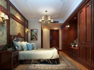 美式乡村风格简约时尚卧室装修效果图