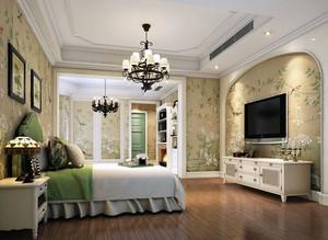 美式田园风格自然舒适卧室装修效果图