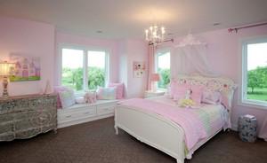 粉色王国可爱女生儿童房装修效果图