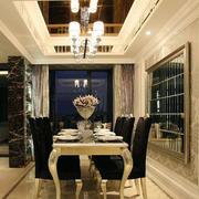 欧式风格精致的大户型餐厅设计装修效果图实例